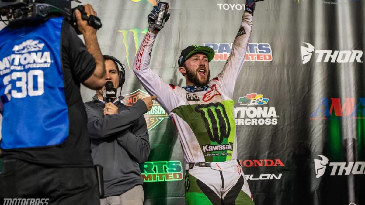 Eli Tomac Wins 3rd Daytona Supercross Championship