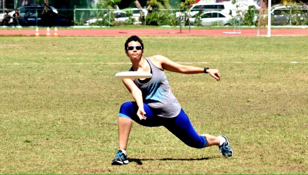 Woman playing Ultimate Frisbee