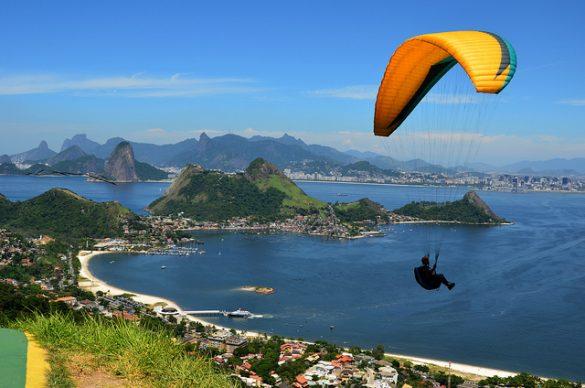 Man practicing paragliding in Rio Janeiro
